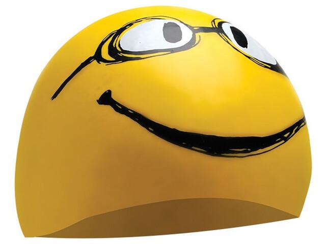TYR Have A Nice Day Bonnet de bain, yellow